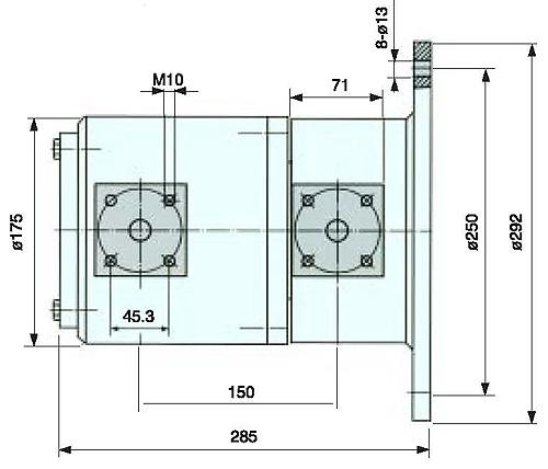 高炉泥炮液压专用旋转接头结构图